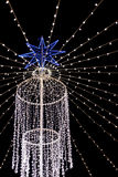 Outdoor christmas lighting Royalty Free Stock Images
