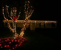 Outdoor Christmas Lights royalty free stock photography