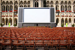 Outdoor cinema Stock Images