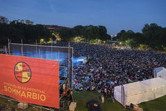 Outdoor cinema Stockholm Stock Photography