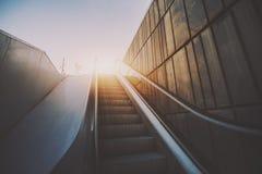 Outdoor city escalator Royalty Free Stock Photos
