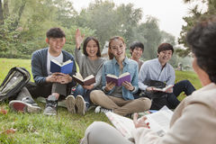 Outdoor class in the park Royalty Free Stock Image