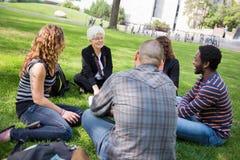 Outdoor Class at University Stock Photos