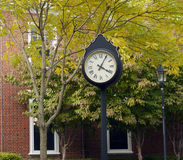 Outdoor Clock. A clock at the campus of Rutgers University Stock Photo