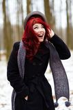 Outdoor closeup of happy young woman Stock Photo