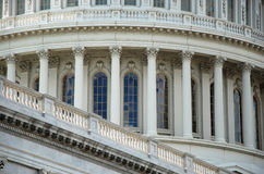 Outdoor closeup view of US Capitol Stock Images
