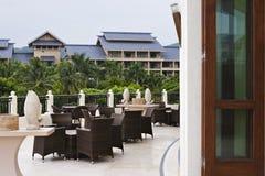 Outdoor coffee bar. At tropical resort, sanya, hainan, china Royalty Free Stock Photography