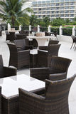 Outdoor coffee bar. At tropical resort, sanya, hainan, china Royalty Free Stock Photos