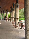 Outdoor Coffee Shop. In a quiet, peaceful setting Stock Images