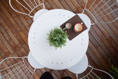 Outdoor coffee table Stock Photography