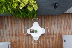 Outdoor coffee table Stock Images