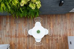 Outdoor coffee table Royalty Free Stock Photos