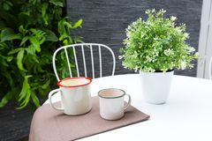 Outdoor coffee table Royalty Free Stock Photo