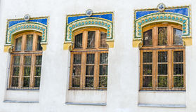 Outdoor colored windows Royalty Free Stock Image