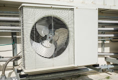Outdoor compressor of air conditioner Royalty Free Stock Images