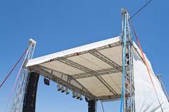 Outdoor concert stage construction Royalty Free Stock Images