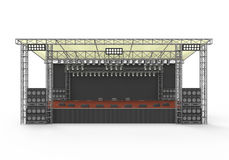 Outdoor Concert Stage. Isolated on white background. 3D render Royalty Free Stock Photography