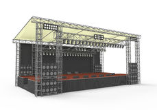 Outdoor Concert Stage Stock Photography