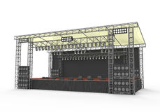 Outdoor Concert Stage. Isolated on white background. 3D render Stock Photo