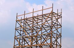 Outdoor construction / nature / sky. High-rise construction that is added with coatings to show the city royalty free stock photography