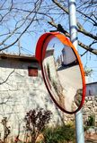 Outdoor convex mirrors Royalty Free Stock Photo