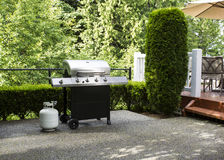 Outdoor cooker on House Patio Royalty Free Stock Images