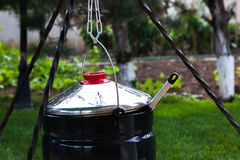 Outdoor cooking Stock Photo