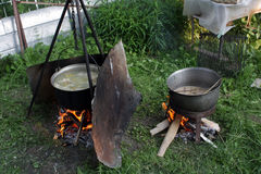 Outdoor cooking Stock Photography