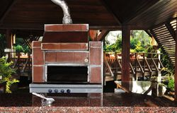 Outdoor cooking stove Stock Photography