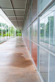 Outdoor corridor of architecture perspective Stock Image