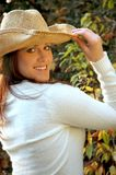 Outdoor Country girl Stock Photo