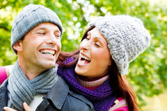 Outdoor couple Stock Images