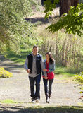Outdoor Couple Walking Royalty Free Stock Photos