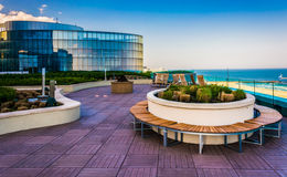 Outdoor courtyard at the Revel Casino Hotel in Atlantic City, Ne Stock Images