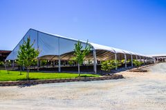 Outdoor Covered Equestrian Horse Facility Royalty Free Stock Photos