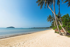 Outdoor with cradle at the beach. Outdoor with cradle on beautiful tropical beach stock photos