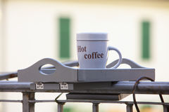 Outdoor cup of coffee Royalty Free Stock Photos
