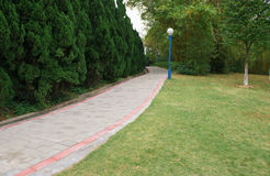 Outdoor curved pathway Royalty Free Stock Photo
