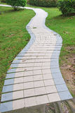 Outdoor curved pathway Royalty Free Stock Images