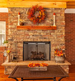 Outdoor Deck with Fireplace Royalty Free Stock Photos