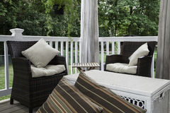 Outdoor Decor - Seating Area Stock Image