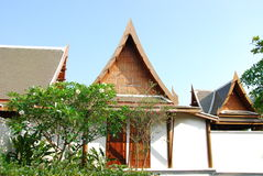 Outdoor design house in thailand Royalty Free Stock Images