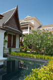 Outdoor design house in thailand Royalty Free Stock Image