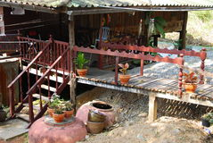 Outdoor design house in thailand Royalty Free Stock Photography