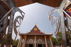 Outdoor design of temple in thailand Royalty Free Stock Photo