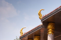 Outdoor design temple in thailand Royalty Free Stock Images