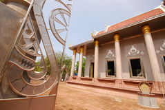 Outdoor design temple in thailand Stock Photography
