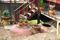 Outdoor design in thai house Stock Photo