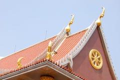 Outdoor design of thai temple Stock Photos