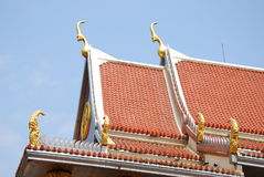Outdoor design of thai temple Royalty Free Stock Photography